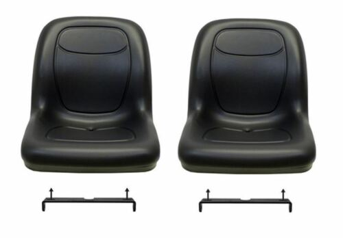 Black Seats Fit CS and CX With Bracket to Tip Forward John Deere Gator Pair 2