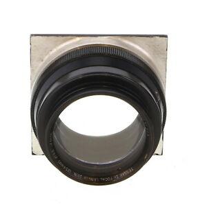 "Vintage Bausch & Lomb 10"" f/4.5 Tessar Ic Barrel Lens with Board - UG"