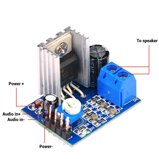 TDA2030A Audio Amplifier Module Power Amplifier Board AMP 6-12V 1*18W Nj