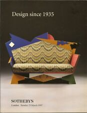 SOTHEBY'S Design Since 1935 Aalto Wirkkala Venini Sottsass Auction Catalog 1997