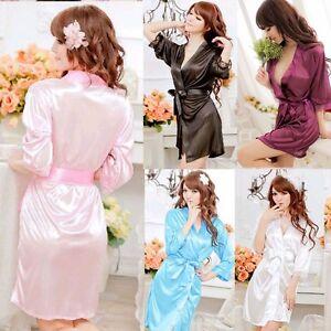 Details about Sexy Women s Lingerie Chiffon Robes babydoll Sleepwear  Nightgown Kimono G-string affb9b711c