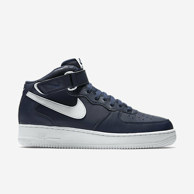 315123-407 Men's Nike Air Force 1 Mid 07 Shoe!! MIDNIGHT NAVY/WHITE/WHITE!!  The most popular shoes for men and women