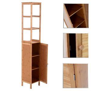 Badezimmerschrank badm bel badkomode badschrank for Badmobel bambus