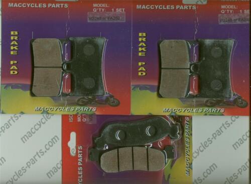 Yamaha Disc Brake Pads YZF-R6//6S Front /& Rear 3 sets