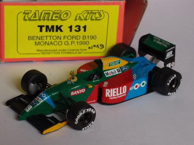 KIT MONTE TAMEO BENETTON FORD B190 GP MONACO 1990 1 43