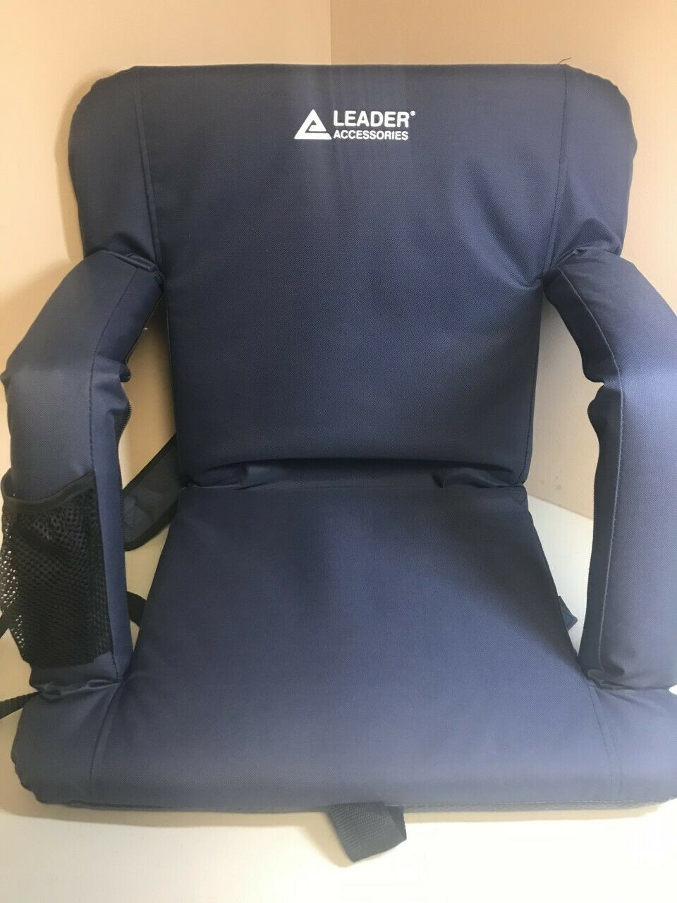 Leader Accessories Stadium Seat Cozy Portable Reclining Chair, Navy, w  DEFECT