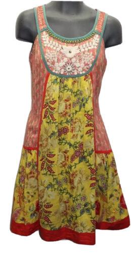 Ritu Kumar Summer Floral Yellow Embroidered Pearl