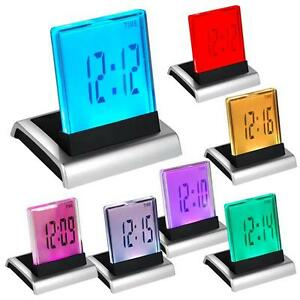 7-LED-Change-Colour-Digital-LCD-Alarm-Clock-with-Thermometer-Calendar-Snooze