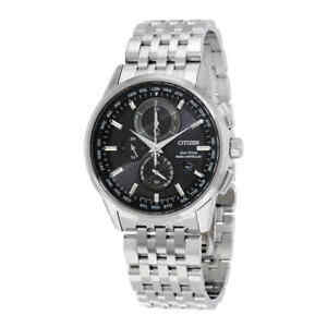 Citizen-World-Chronograph-A-T-Eco-Drive-Men-039-s-Watch-AT8110-53E
