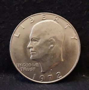 1972-D United States dollar - Eisenhower (Ike), nice UNC, KM-203