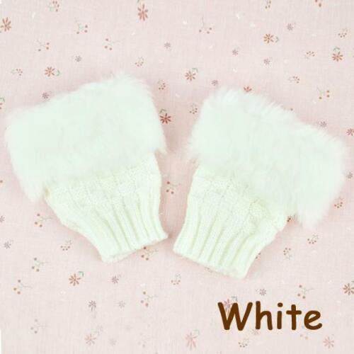 Women Winter New Faux Rabbit Fur//Villi Gloves Arm Warmer Fingerless CHPH 01