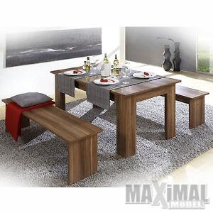 tischgruppe corporal in walnuss melamin deko mit tisch. Black Bedroom Furniture Sets. Home Design Ideas