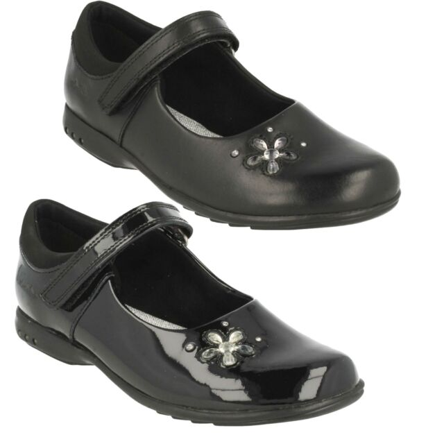 15714733fa27 SALE TRIXI CANDY GIRLS CLARKS LEATHER RIPTAPE FLOWER LIGHTS SCHOOL SHOES  £19.99