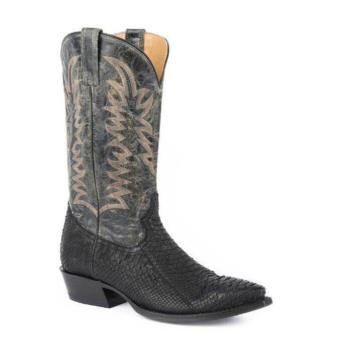 Stetson Python botas para hombre negra 12-020-6118-4028 del vientre vientre vientre 2bd737