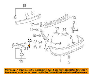 25 Front /& Rear Bumper Clips Compatible With Toyota 76853-10010