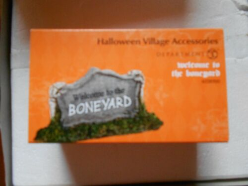 DEPT 56 HALLOWEEN VILLAGE Accessory WELCOME TO THE BONEYARD NIB B