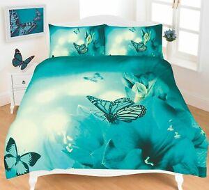 Butterflies Duvet Quilt Cover Bedding Set Single Double King