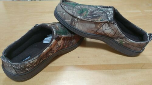 Men/'s Realtree Camouflage Hard Sole Slippers M L XL XXL 8 9 10 11 12 13 14