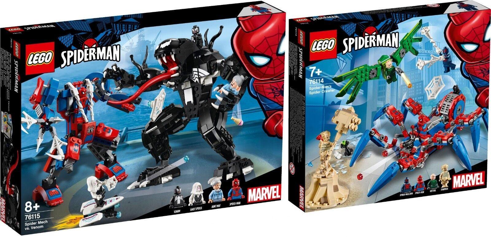 LEGO SUPER HEROES 76114 76115 SPIDER uomo spinnenkrabbler n12 18   servizio onesto