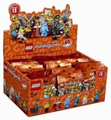 LEGO SERIES 15 71011 CASE OF 60 MINIFIGURES PACKS PACK SEALED BROWN BOX