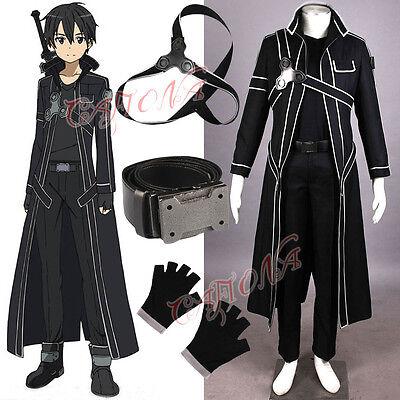 Cafiona Hot Sword Art Online Kirito Kazuto Kirigay Cosplay Costume Custom Made