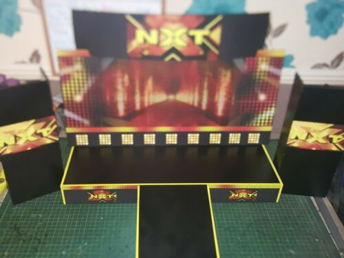 wwe custom made NXT stage for wrestling figures