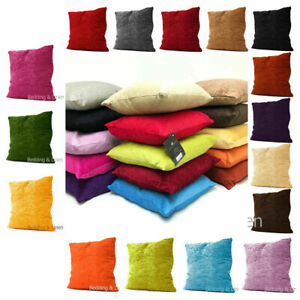Cushion-Covers-Plain-Chenille-Home-Sofa-Decor-Cases-Bedding-Car-Size-18-034-22-034