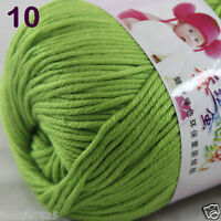 Sale 1 Skein x50g Baby Cashmere Silk Wool Children hand knitting Crochet Yarn 10