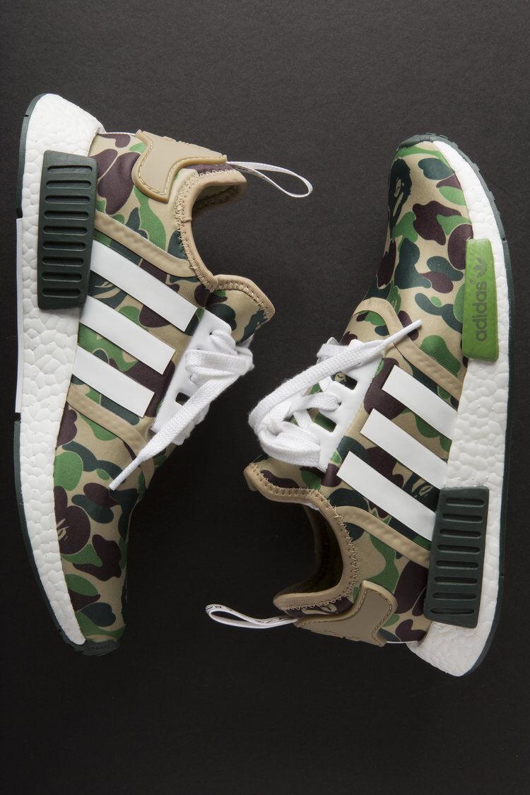 Adidas NMD R1 x Bape Camo Green BA7326 ( ( ( US 5.5 ) Receipt Limited Y 350 4783f3