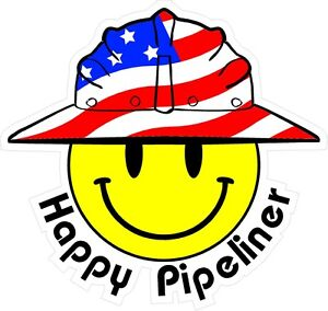 3-Happy-Pipeliner-Smiley-USA-Hardhat-Oilfield-Helmet-Toolbox-Sticker-H881