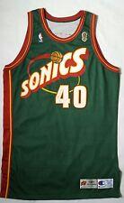 Vintage 1995/96 Seattle Supersonics Shawn Kemp Pro Cut NBA Finals Jersey Size 50