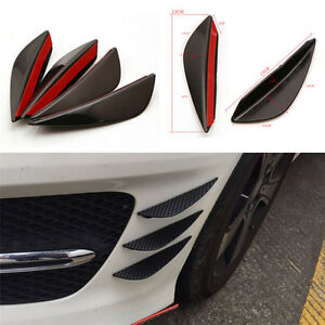 4x-Universal-Front-Bumper-Lip-Splitter-Fins-Body-Spoiler-Canard-Valence-Chin-LC