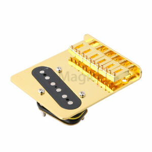 Golden-6-saddle-Bridge-amp-Pickup-for-Fender-Telecaster-Tele-Electric-Guitar