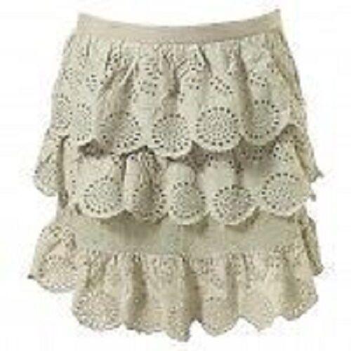 TOPSHOP SAGE rose crochet échelonné d/'été Mini jupe nouvelle taille 10 12 FREE P/&P S4