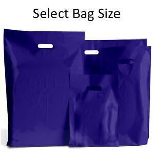 Navy-blue-sacs-plastiques-cadeau-magasin-sac-boutique-vente-au-detail-petit-amp-grand