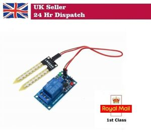 Details about 12V Relay Controller Soil Moisture Sensor Automatically  Watering Arduino Pi