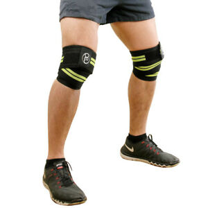 Fitness Mad Weight Lifting Training Knee Support Wraps Powerlifters Bodybuilders Ebay