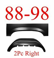 88 98 Right 2pc Inner & Outer Rear Wheel Arch, Rust Reapir, Chevy & Gmc Truck