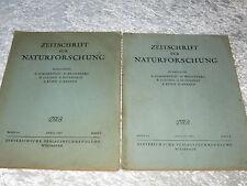 2 Ausgaben Zeitschrift für Naturforschung - Kuratorium - DVB - 1947