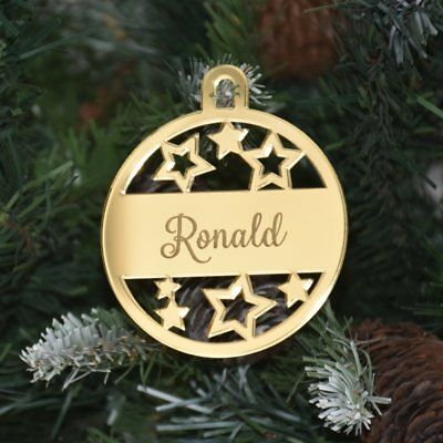 Rose Gold And Silver Christmas Tree Decorations.Personalised Christmas Baubles Mirror Gold Rose Gold Or Silver Xmas Tree Decor Ebay