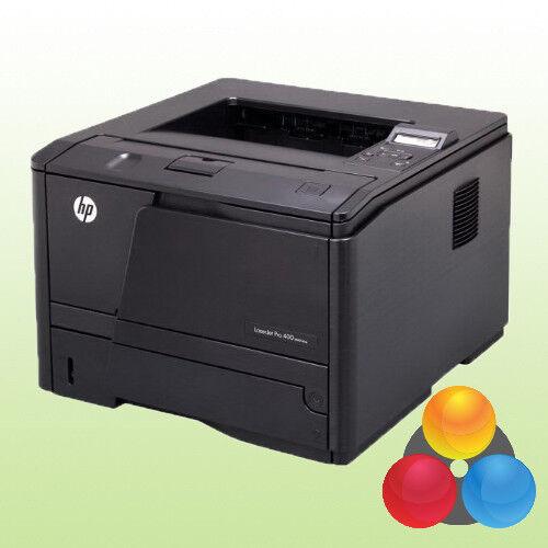 HP LaserJet Pro 400 M401dne Laserdrucker Drucker LAN Duplex USB inkl. Toner A4