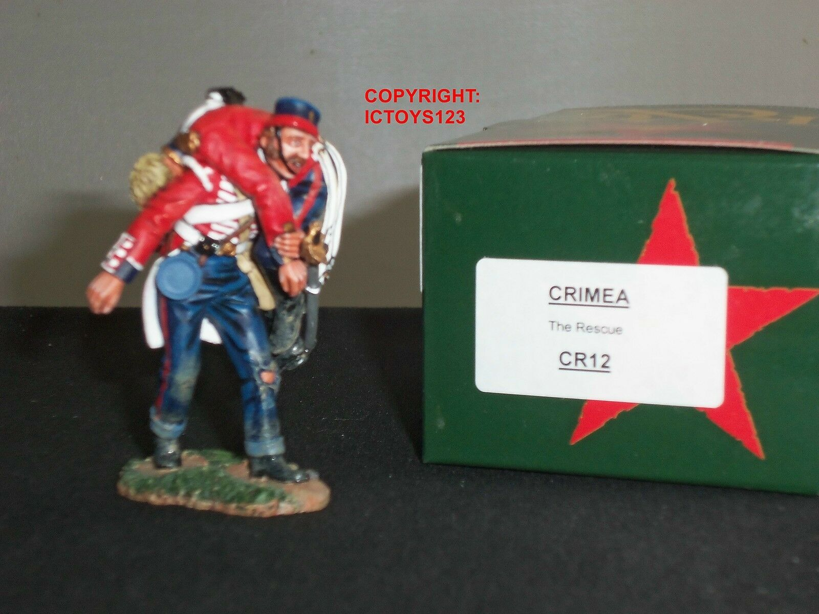 KING AND COUNTRY CR12 CRIMEA BRITISH INFANTRY RESCUE METAL TOY SOLDIER FIGURE