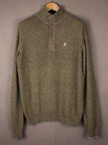 Marlboro Classics Herren Freizeit Wolle Polyamid Strick Pullover Größe L ATZ136