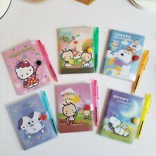 Lot Of 6sanrio Hello Kitty Kiki Amp Coco Snoopy Peanuts Address Books With Pen