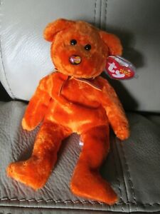 TY Beanie Baby M.C. Beanie III The Bear With '10 Year' Tag Retired  DOB: 2003