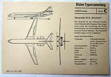 """DDR Kleine Typensammlung Luftfahrzeuge - Caravelle 10 A """"Horizon"""""""