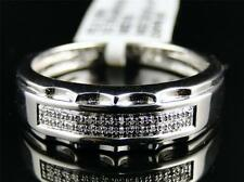 White Gold Finish Mens Round Diamond Pave Set Engagement Wedding Band Ring 5.5MM