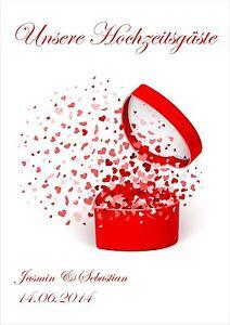 Hochzeitsdekoration Hardcover /wedding/herz/dose Mit Herzen/liebe 1 Ein Bereicherung Und Ein NäHrstoff FüR Die Leber Und Die Niere Sinnvoll Gästebuch Zur Hochzeit