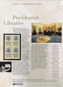 #742 37c Presidential Libraries Stamp #3930 USPS Commemorative Stamp Panel