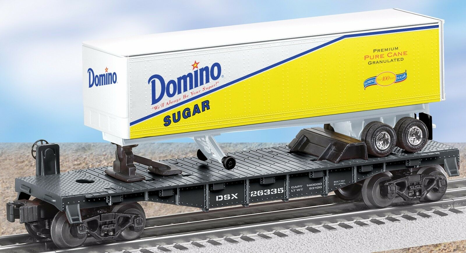 6-26335 Domino Sugar Flatcar w  Trailer